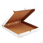 Гофрированный ящик 420*420*40 для пиццы серия FUPECO Албус из микрогофрокартона бел/бур (Д 40-42 см)