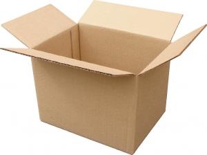 Гофрированная картонная шашечница 000*400*300 (96 л) для переезда с 0-х слойного гофрокартона бур/бур